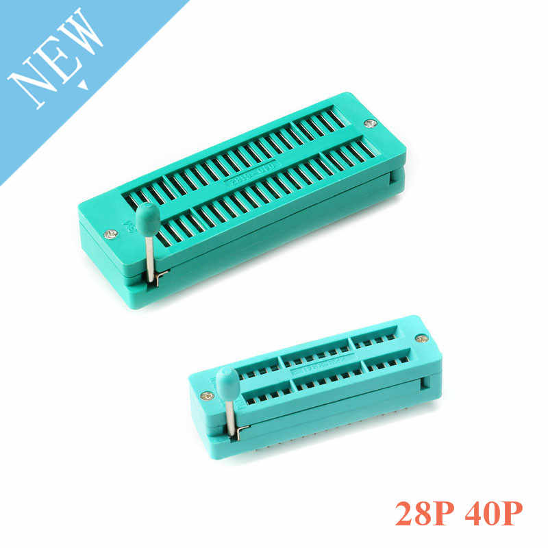 28 P 40 P Multi-función Universal de circuito integrado Socket IC, 28 40 Pin FPC ZIP DIP IC prueba probador Board Socket