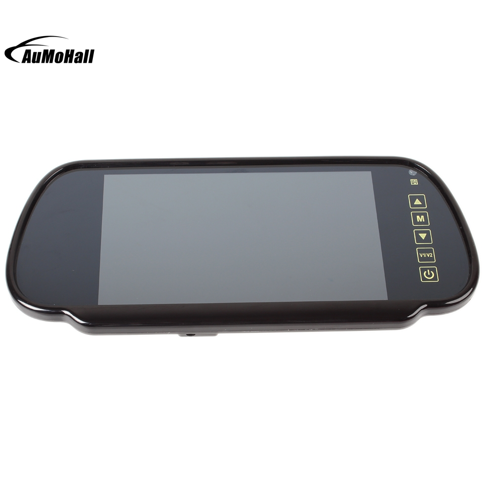 <b>7 Inch</b> Touch Button <b>Car</b> Rearview Mirror <b>Monitor</b> Parking Reverse ...