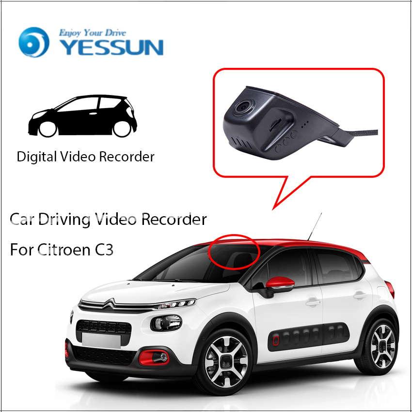 YESSUN For Citroen C3 Car Front Dash Camera CAM / DVR Driving Video Recorder - For iPhone Android APP Control Function image