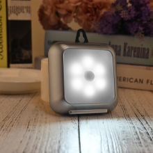 Ultra Slim Portable Wall lamp PIR Motion Sensor LED Cabinet Light Square Night with hook  light D20