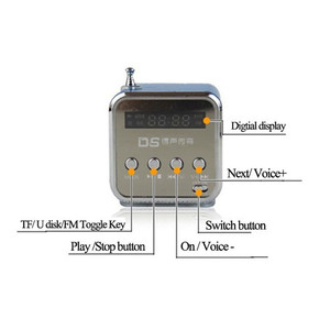Image 5 - Portable Mini FM Radio Speaker USB MP3 Music Player Sound box Support Micro SD TF AUX with LCD Screen Display for PC Laptop Gift