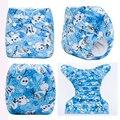 Nova Impressão Pul Fralda De Pano Reutilizáveis Com Interior Macio Do Tecido Do Bebê À Prova D' Água Cobrir Com Insert Fit 3-15 kg