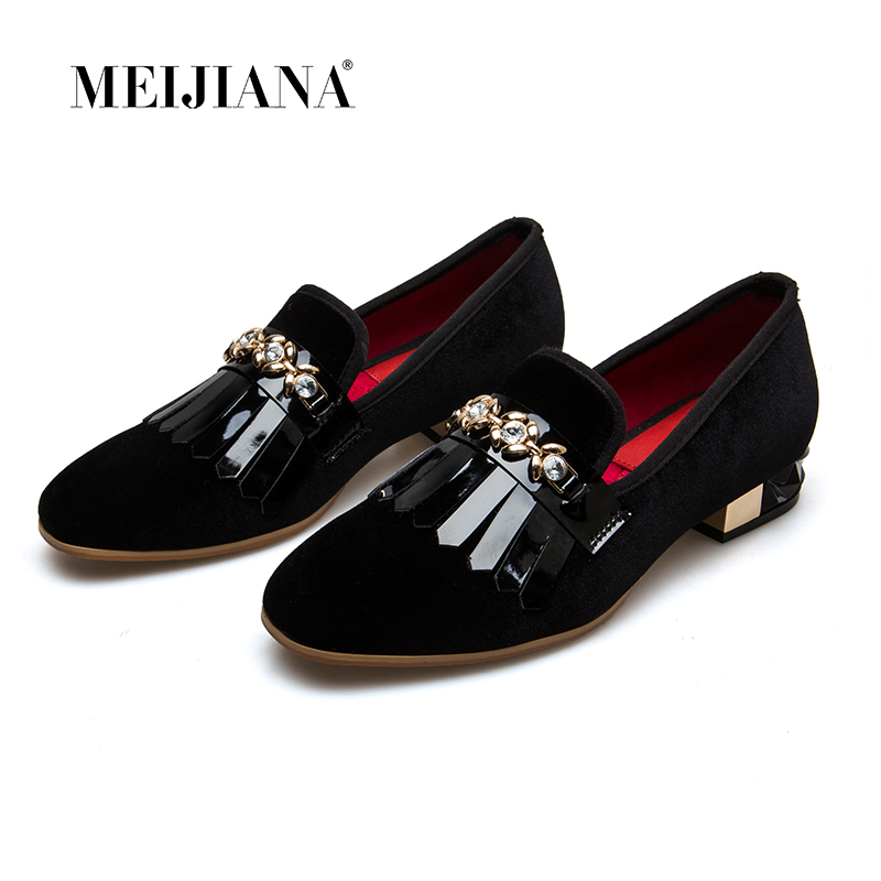 MEIJIANA 2019 New Patent Leather Women Pumps Fashion Heels Sandals For Women Summer Banquet Shoes