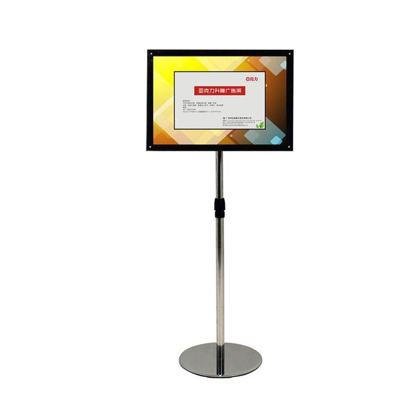 A3 Регулируемый напольный стенд светодиодный световой короб с светящаяся афиша кадры отображения для гостиницы, торговые выставки