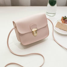 Women Messenger Bags Woman Bag 2018 Famous Brands Women Fashion Solid Color Cover Lock Shoulder Crossbody Phone beach Bag sac(China)