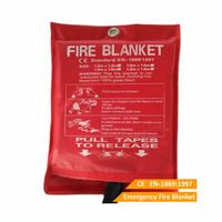Emergency Fire Blanket 1mx1m 100 Glass Fiber For Home Fire Extinguishing
