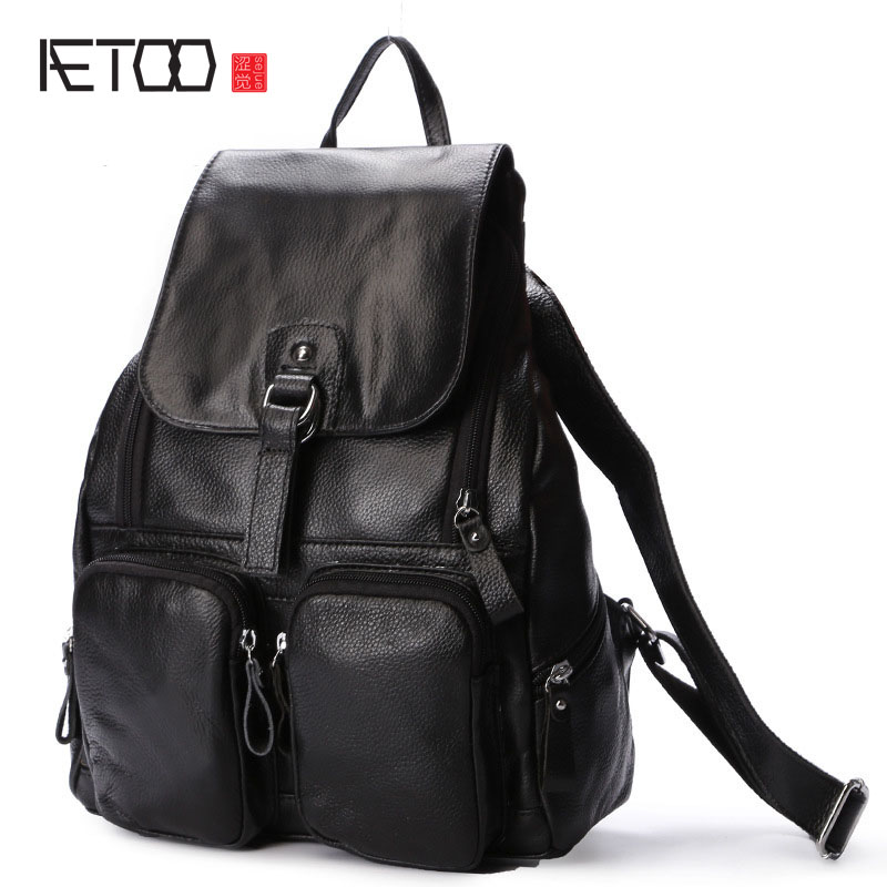 AETOO autumn and winter Korean version of the new leather backpack first layer of leather backpack