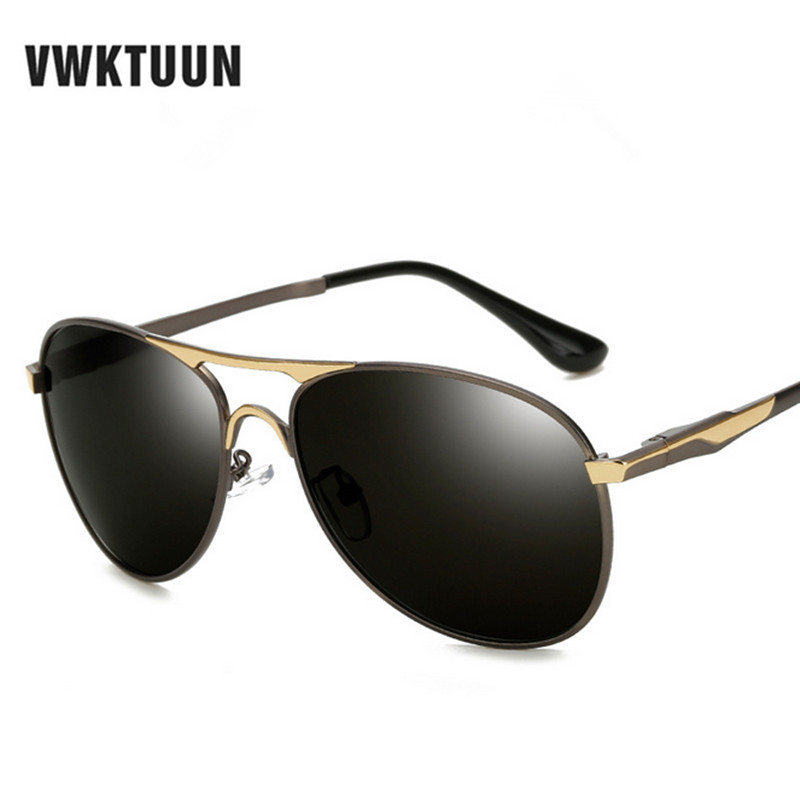 1f396d9654446f VWKTUUN En Aluminium Magnésium lunettes de Soleil Polarisées Hommes  Classique Marque Designer lunettes de Soleil de Conduite Miroir lunettes de Soleil  Homme ...