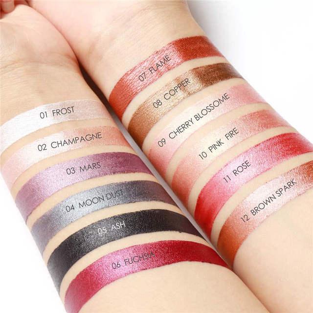 FOCALLURE 12 Colors Eyeshadow Pencil Women Beauty Cosmetic Shimmer Glitter Eye Shadow Pen Waterproof Eye Makeup 2