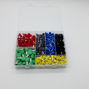Image 2 - 780pcs    Dual Bootlace Ferrule teminator Kit Electrical Crimp Dual entry cord end wire terminal connector