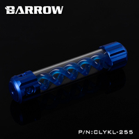 Barrow Aluminum Blue VIRUS T Cylinder Water Reservoir Water Tank 255mm Computer Water Cooling UV Lighting