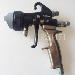 Image 2 - Two Head Chrome Spray Gun Dual Nozzle Silvering Polyurethane Foaming Mirror Chrome Paint Nano