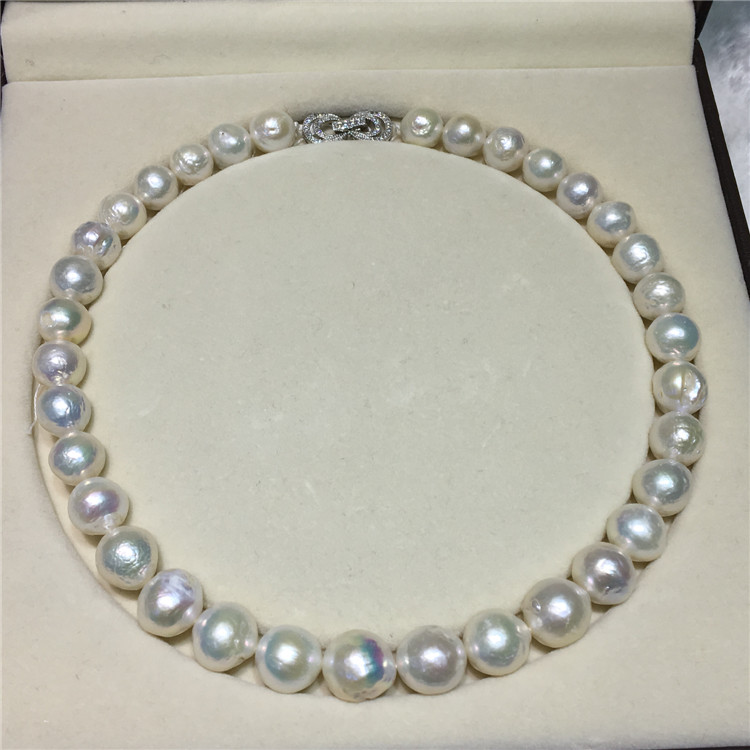 HOT## Wholesale >NEW 10-13mm SOUTH SEA WHITE BAROQUE PEARL NECKLACE 18inch elegant14 15mm baroque south sea white pearl necklace 18inch