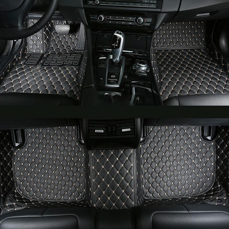 Tapis de sol de voiture pour Cadillac ATS CTS SRX SLS XTS Escalade, citroën C6 C5 C3-XR C2 c-elysee DS5 DS6 tapis de voiture en cuir