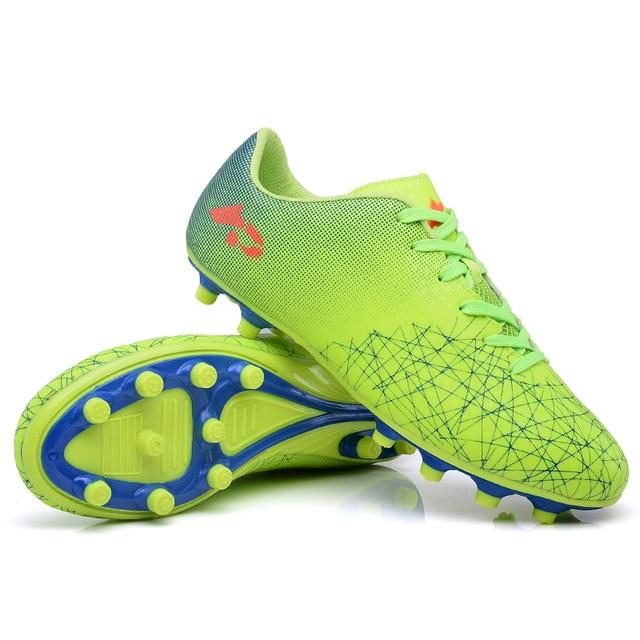 3bb2f6e5fe7 Men Soccer Shoes Sport Ronaldo Breathable Women Spikes Lightweight Kids  Boys Superfly VI Elite CR7 AG FG SG Football Sneakers