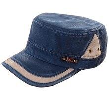 Новая классическая мужская и женская Регулируемая армейская простая винтажная шляпа Cadet бейсболка D3