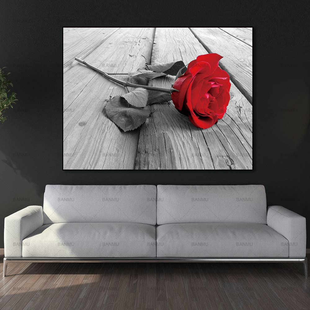 Canvas Painting Wall Art Pictures home decor  Wall poster decoration for living room no frame prints beautiful rose on canvas