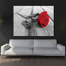 Canvas Painting Wall Art Pictures home decor Wall poster decoration for living room no frame prints beautiful rose on canvas(China)
