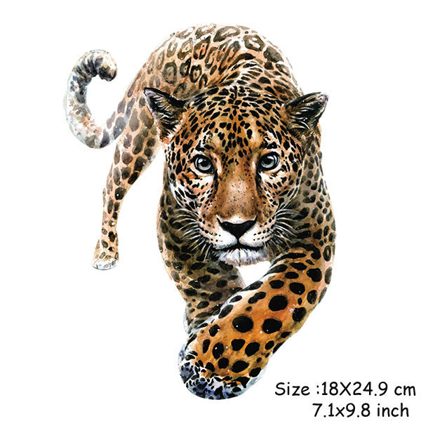 Iron on Tiger 3D Animal Patches Appliques for Clothes DIY Apparel Accessory Quality Heat Transfer Washable Ironing Sticker in Patches from Home Garden