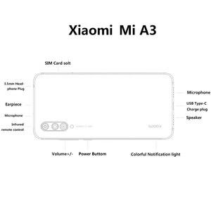 "Image 5 - Original Xiao Mi Mi A3 6.088 ""AMOLED 4GB 128GB 48MP โทรศัพท์มือถือ Snapdragon 665 OCTA Core ในหน้าจอลายนิ้วมือ 4030mAh โทรศัพท์มือถือ"