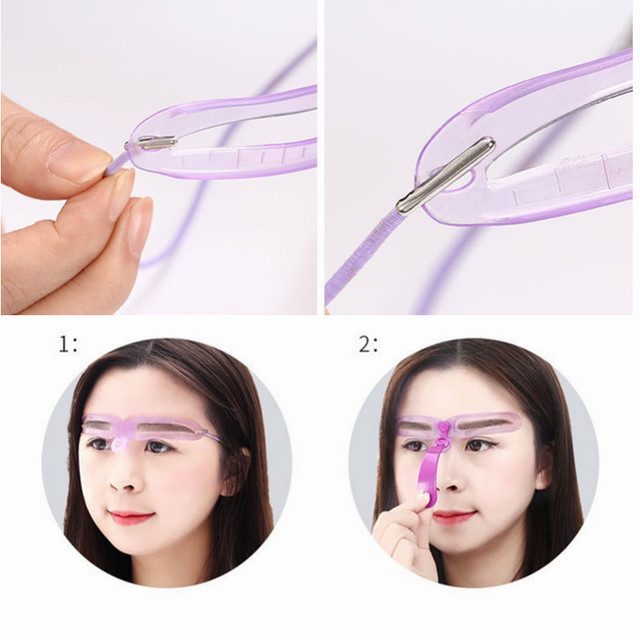 8 in 1 Reusable Eyebrow Stencil eyebrow ruler Cosmetics Eye Brow shape Mold Styling Shaping Template Card Makeup Beauty Kit 3