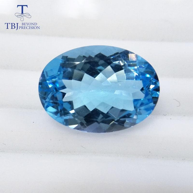 все цены на Tbj ,good color natural sky topaz ov13*18 ard 13.9ct for silver or gold jewelry mounting,100% natural sky topaz loose gemstones