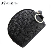 6colors Knit Women's Purse For Coins Mini Zipper Clutch Change Wallet With Keychain Card Bags Coin Pouch For Female Lady Girl  aotian new fashion girl printing coins change purse clutch zipper zero wallet phone key bags drop ship 17mar20