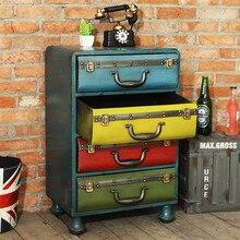 Металлическая железная коробка, украшение для шкафа, ретро пол, украшение для дома, мебель для гостиной
