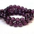 Venta al por mayor AAA + Clear Glass Deep Purple Crystal Granos Flojos Redondos Para La Joyería Que Hace DIY Pulsera Collar 6/8/10mm Línea de 15''
