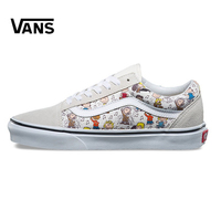 VANS Old Skool Series Unisex Skateboard Shoes Men S Breathable Leisure Canvas Sneakers Women S Cartoon