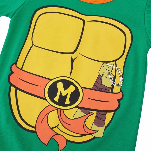Bébé Garçon Ninja Tortue Costume Barboteuse Infantile Teenage Mutant Drôle Salopette