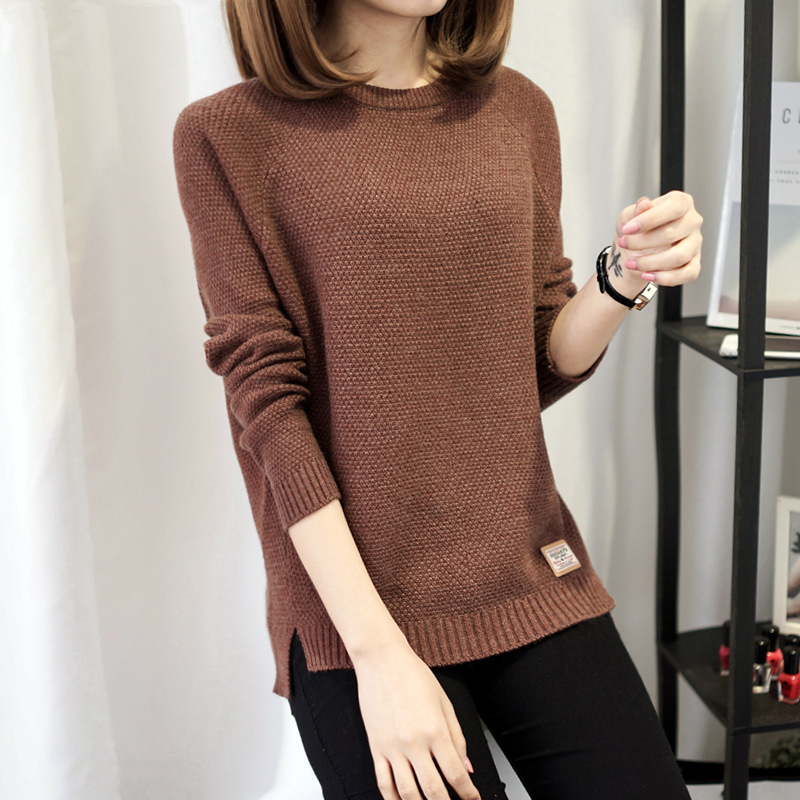 Autumn sweater 19 Winter women fashion sexy o-neck Casual women sweaters and pullover warm Long sleeve Knitted Sweater 1