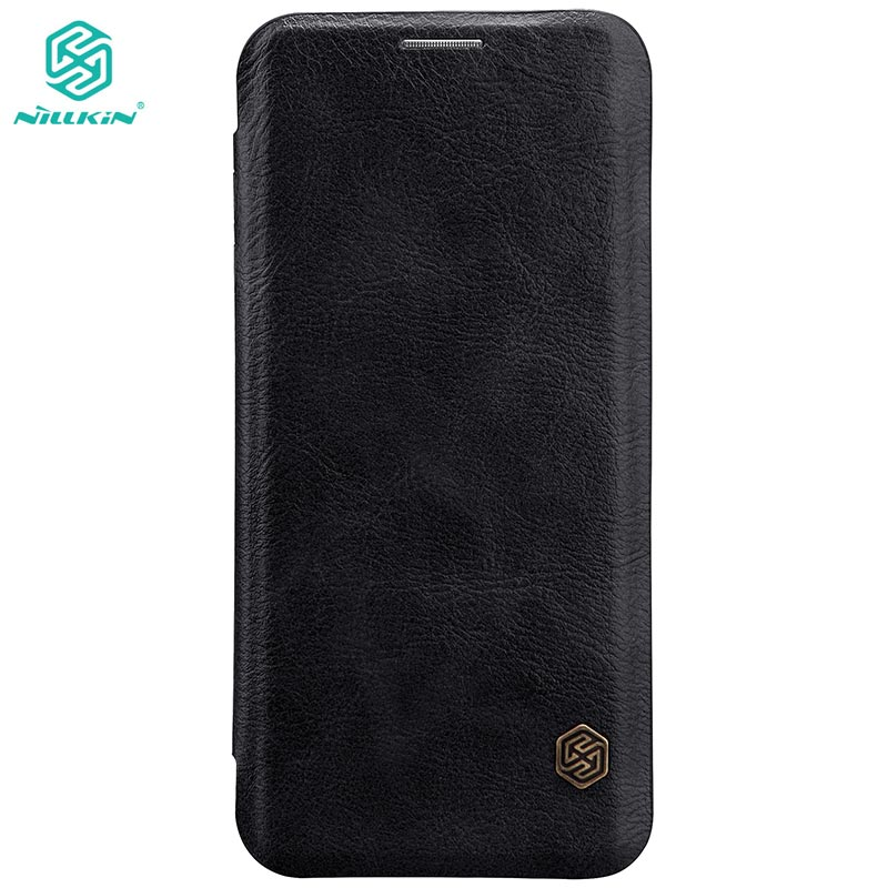 Do Caso Da Aleta Nillkin Para Samsung Galaxy S8 5.8 polegada/S8 além de 6.2 polegada de Qin Série PU Capa De Couro Da sFor Samsung S8 caso