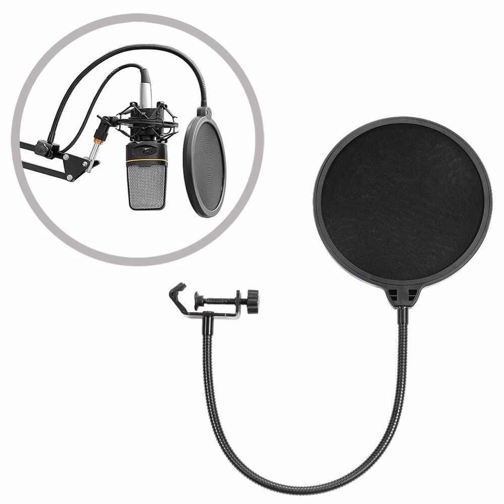 Лучшие предложения NB-35 микрофон Подвеска рычаг стенд с зажимом и настольный монтажный зажим Поп фильтр ветрозащитный экран щит клип наборы