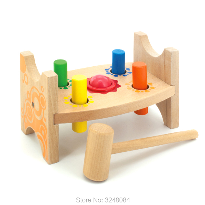 New Hot Classic Game Whack-a-Mole Wooden Baby Building Toys Gift Wooden Toy Childrens Montessori Educational Enlightenment Toy