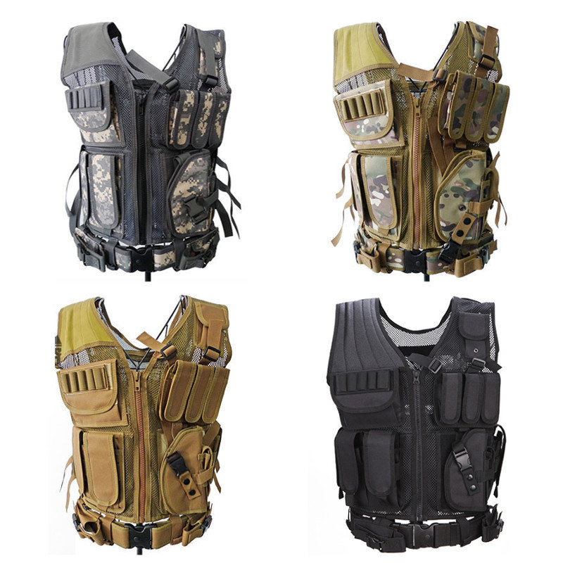 New Arrival 600D Nylon Military Tactical Vest Wargame Body Sportswear Hunting Vests CS Outdoor Hunting Accessories Equipment outlife new style professional military tactical multifunction shovel outdoor camping survival folding spade tool equipment