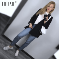 Fatika 2019 Spring Autumn Stylish Blazer Basic Notched Single Button Long Sleeve Office Outerwear Lady Blazers Women Clothing