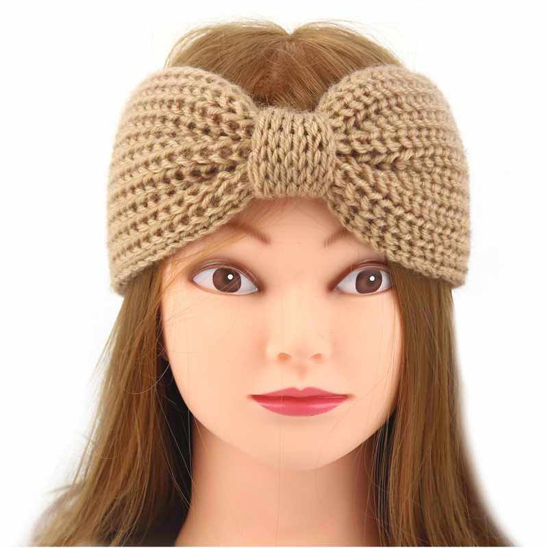 ff60c9a5172 ... Warm Winter Hat For Women Ladies Ponytail Baggy Beanie Women Stretch  Cable Wool Knitted Messy Bun ...