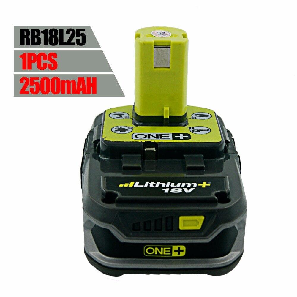 ФОТО Used Ryobi 18 Volt 18V 2500mah RB18L25 One Plus Lithium Ion Rechargeable Battery P117 P234 P260 P542 P523 P103 P108 P105