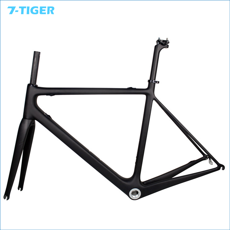 7 TIGER FM R685 UD Carbon Matt Road Bike Frame + Fork+Seatpost+Headset size 50cm 52cm 54cm 56cm 58cm
