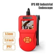 IPS HD Industrial Endoscope Inspection 5.5/8.0 mm Camera Diameter for Engine Sewer Hard Handheld Waterproof