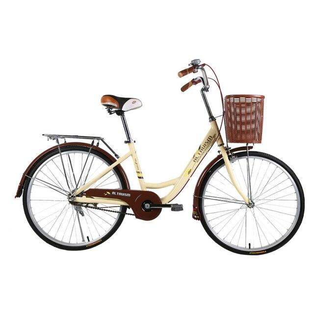 ALTRUISM Q3 Городской Велосипед 24 Дюймов Road Bikes Ретро Велосипед Bicicleta Bisiklet Дамы Велосипед Алюминиевый Велосипед Задние Барабанные Тормоза