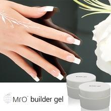 Mro French Clear Color Soak Off Uv Builder Gel Artificial Nail Polish Varnish