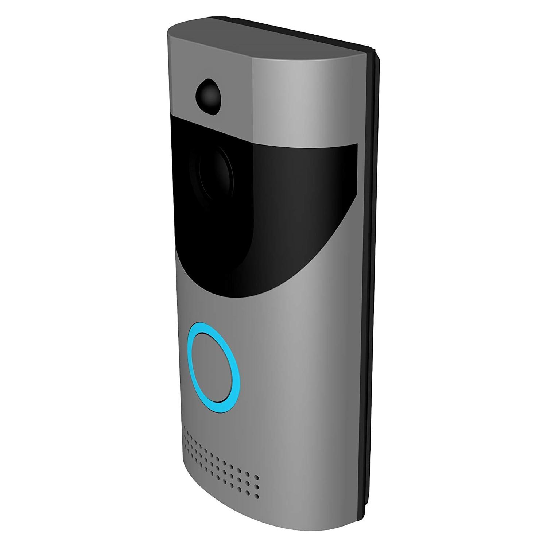 WIFI Vidéo Smart Sonnette, 720 p HD de Sécurité CamerRealTime Vidéo Bidirectionnel Audio, IP65 Étanche, Vision Nocturne, smart APP