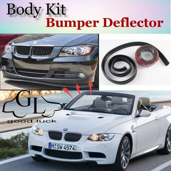 For BMW 3 M3 E30 E36 E46 E90 E91 E92 E93 F30 F31 F34 Bumper Lip Spoiler Deflector For Car Tuning / Front Skirt Body Kit + Strip image