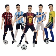 4 Pcs/Set World Cup Male Footballer Ken Doll Clothes Doll Accessories With Sports Shirt Pants Socks Makeup Toys For Doll