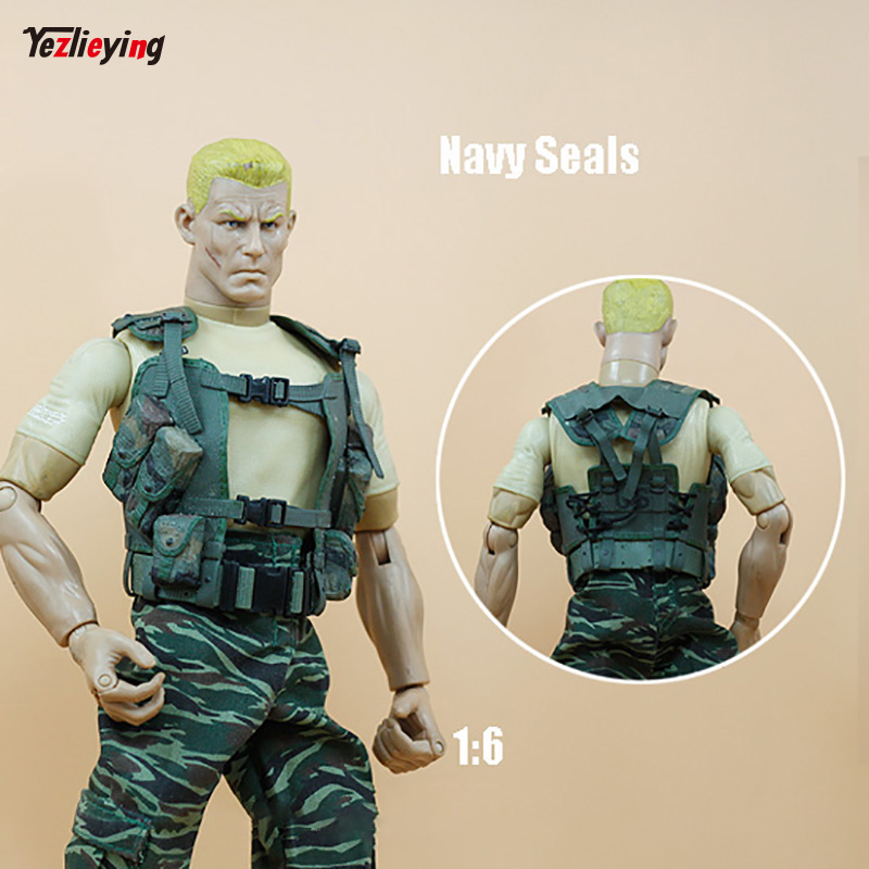 1/6 Scale Accessories Soldier Clothing Navy SEALs Waistcoat Vest Green U.S. Military Fit 12 Inch Phicen Action Toys Figure ...