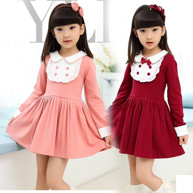 4b8aeb28c New Autumn Spring Girls Brand Clothing Knee length Bow knot Girl ...