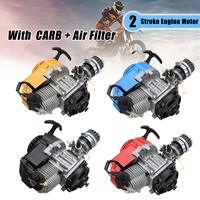 49cc 2 Stroke Mototcycle Complete Engine Motor With Air Filter CARB Pocket Bike Mini Dirt ATV Quad