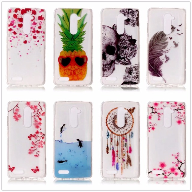 YDAFOII Luxury Phone Cases For ZTE Z981 Soft Super Thin TPU Back For ZTE Z981 Fashion Flowers Pattern Cases Covers